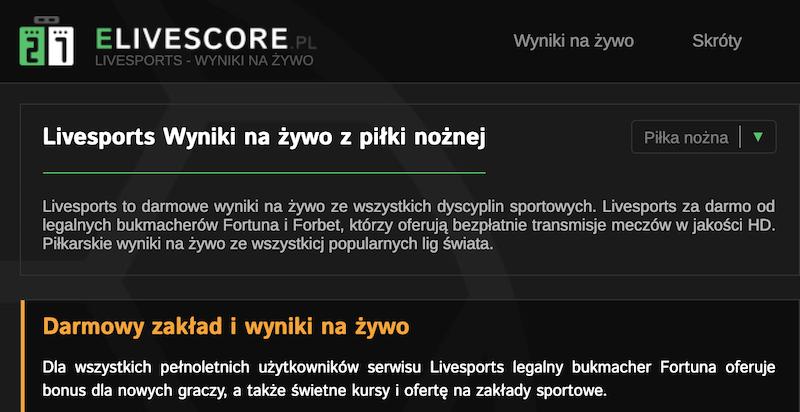 flashscore i livesports wyniki online